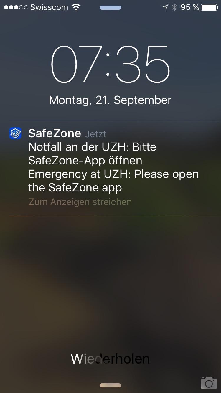 notfall gefahr app